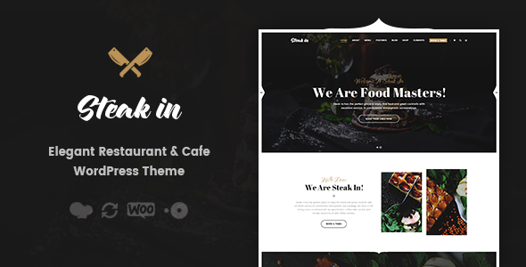 Steak In - Restaurant & Cafe WordPress Theme