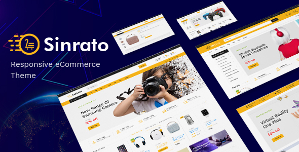 Sinrato - Mega Shop OpenCart Theme (Included Color Swatches)