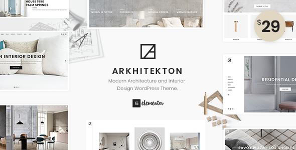 Arkhitekton - Modern Architecture and Interior Design WordPress Theme