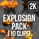 Explosion Pack - 10 Footage - VideoHive Item for Sale