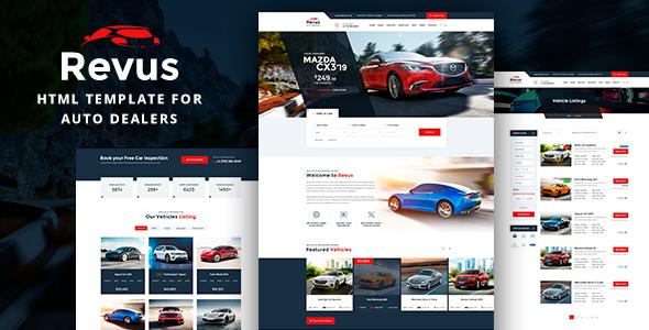 Revus - Auto Dealer HTML