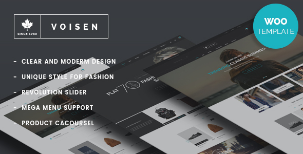 Voisen – WooCommerce Responsive Fashion Theme Free Download