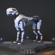 Robot dog stands on a charging dock - PhotoDune Item for Sale