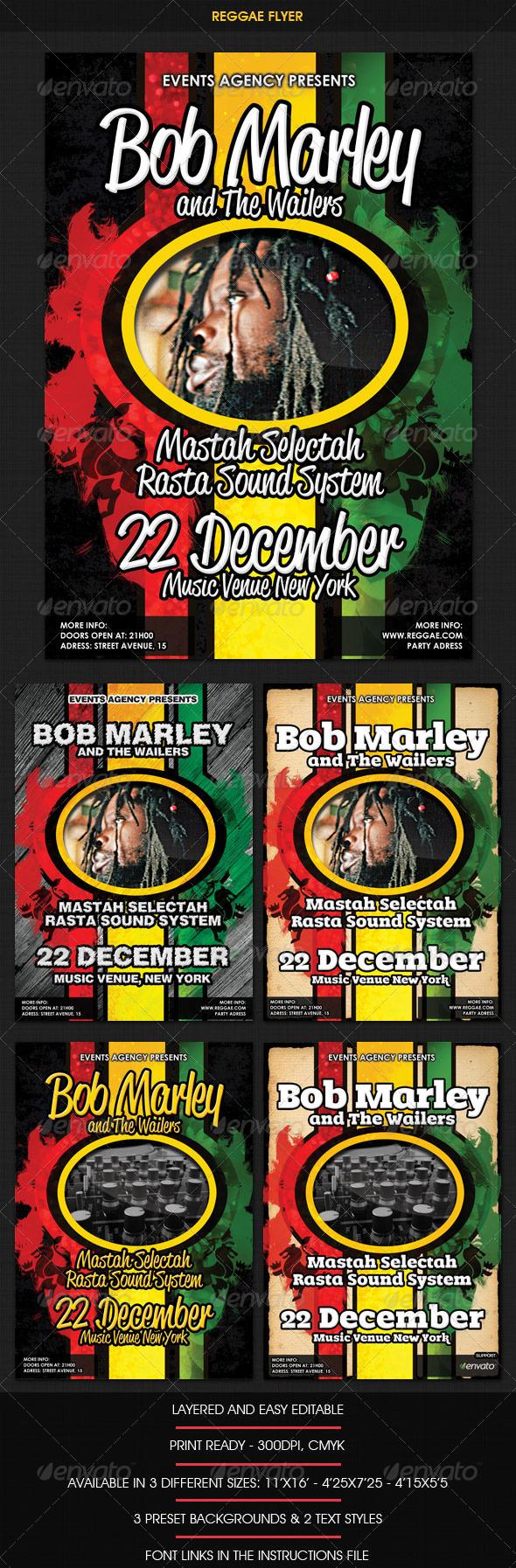 Reggae Rasta Flyer - Clubs & Parties Events