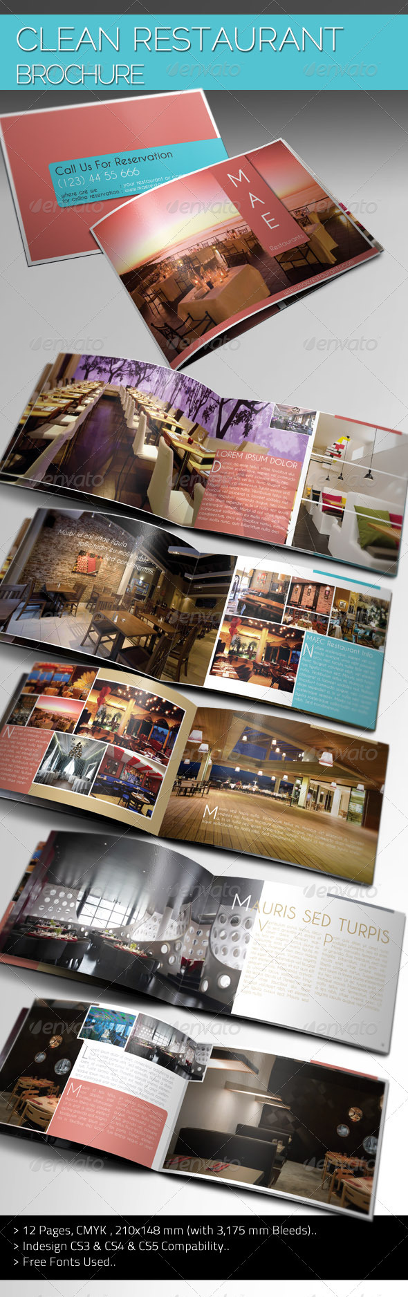 Clean Restaurant Brochure - Corporate Brochures