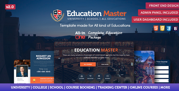 Education Master Template by rn53themes
