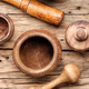 Wooden mortar and pestle - PhotoDune Item for Sale
