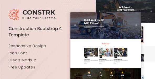 Constrk  - Construction HTML Template