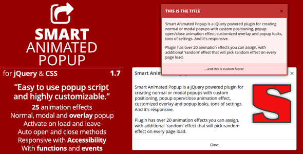 Smart Animated Popup - jQuery Popups Plugin - Preview Image