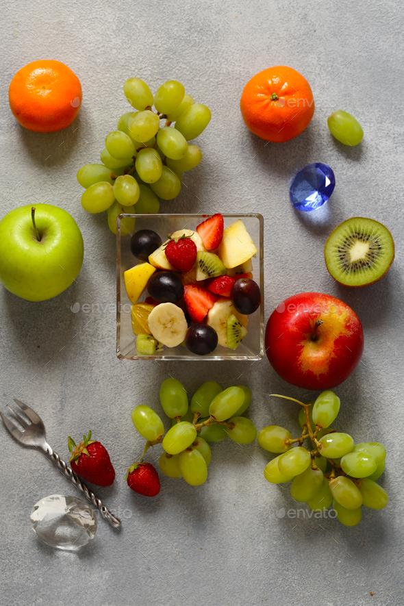 Fruit Breakfast Salad - Stock Photo - Images