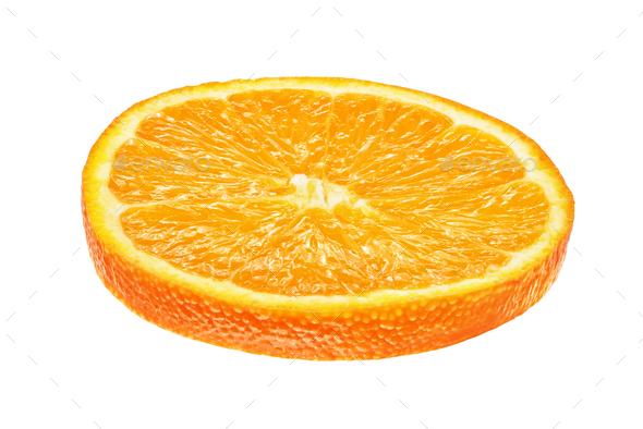 Orange slice isolated on white - Stock Photo - Images