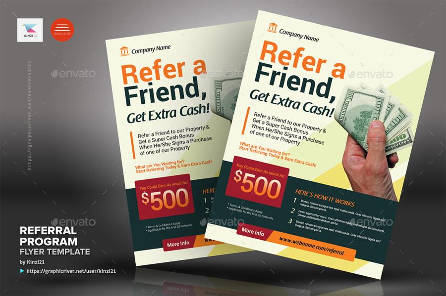 referral program flyer templates by kinzi21