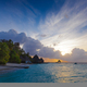 Colorful sunrise over ocean on Maldives - PhotoDune Item for Sale