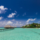 The path to the bungalow and island over the water - PhotoDune Item for Sale