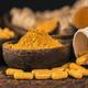 Curcumin Herbal Supplement Capsules and Turmeric Powder - PhotoDune Item for Sale