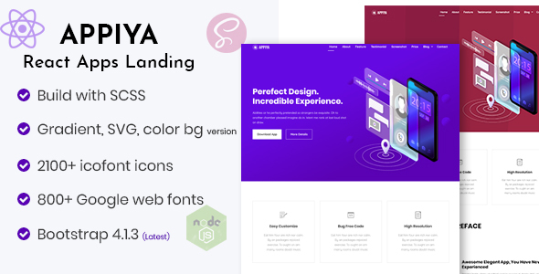 Excellent Appiya - React App Landing Page
