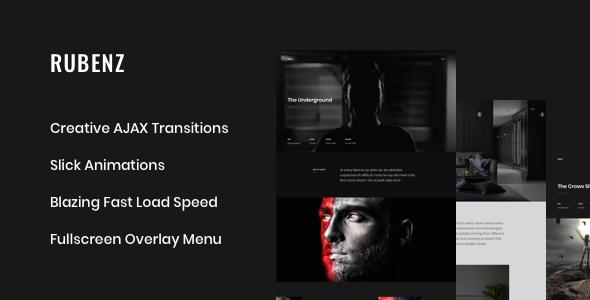 Rubenz – Creative Portfolio AJAX HTML5 Template
