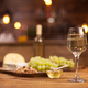 Gourmet night in a vintage restaurant with white wine and cheese tasting - PhotoDune Item for Sale