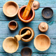 Empty wooden mortar - PhotoDune Item for Sale
