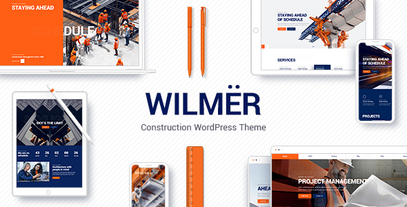 Wilmër – Construction WordPress Theme Free Download