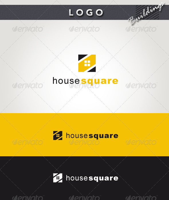 House Square Logo - Buildings Logo Templates