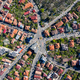 Aerial view of intersection of seven streets in old city from a drone - PhotoDune Item for Sale