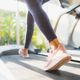 Portrait asian woman exercising and workout by running in gym - PhotoDune Item for Sale