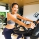 Portrait asian woman exercising and work out in gym - PhotoDune Item for Sale