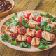 Grilled chicken skewers on the plate - PhotoDune Item for Sale