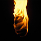 Flaming Torch At Night - VideoHive Item for Sale