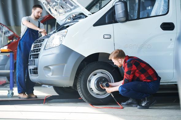 Car repairing - Stock Photo - Images