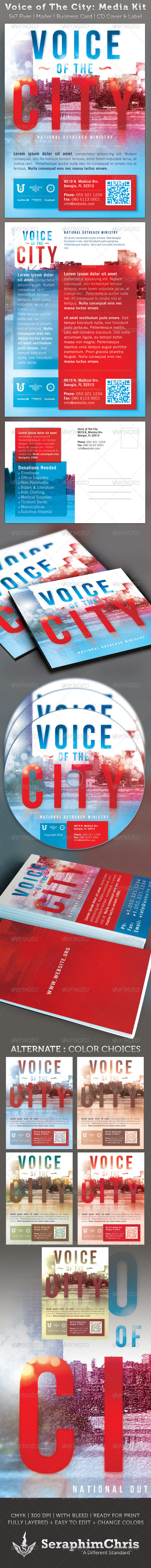Voice of The City Church Charity Media Kit - Church Flyers