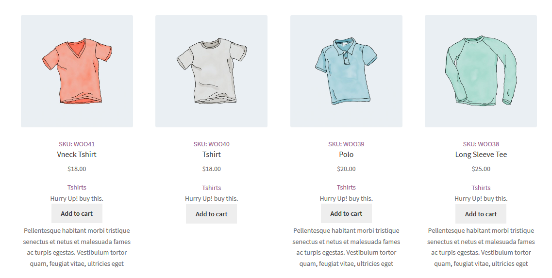 WooCommerce Show Product Data in loop on Shop & Category Pages Plugin - 1
