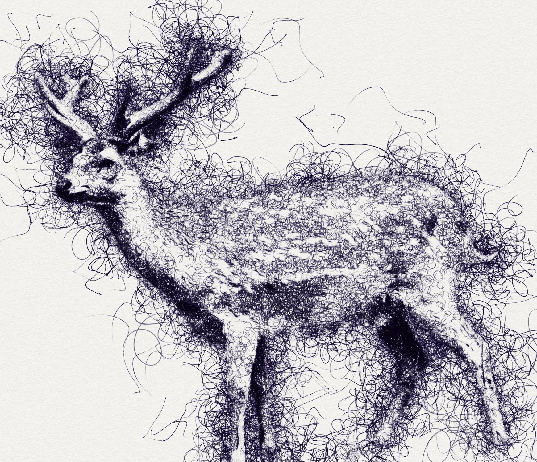 Scribble Pen Sketch Photoshop Action v2