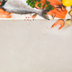 Seafood on grey concrete background, flat lay, top view - PhotoDune Item for Sale