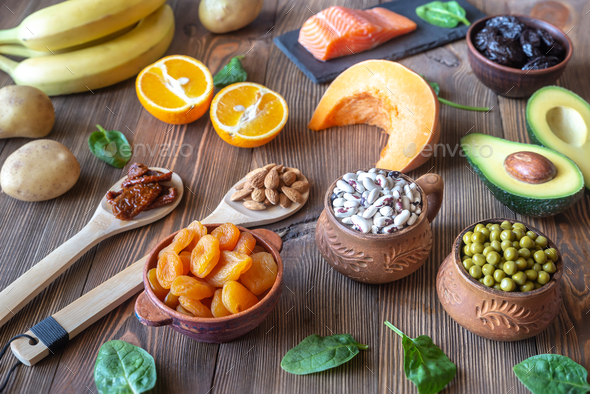 Foods That Are High in Potassium - Stock Photo - Images