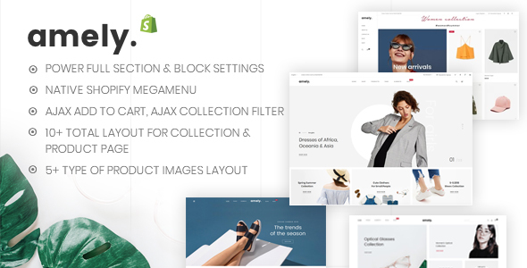 Amely – Clean & Modern Shopify Theme