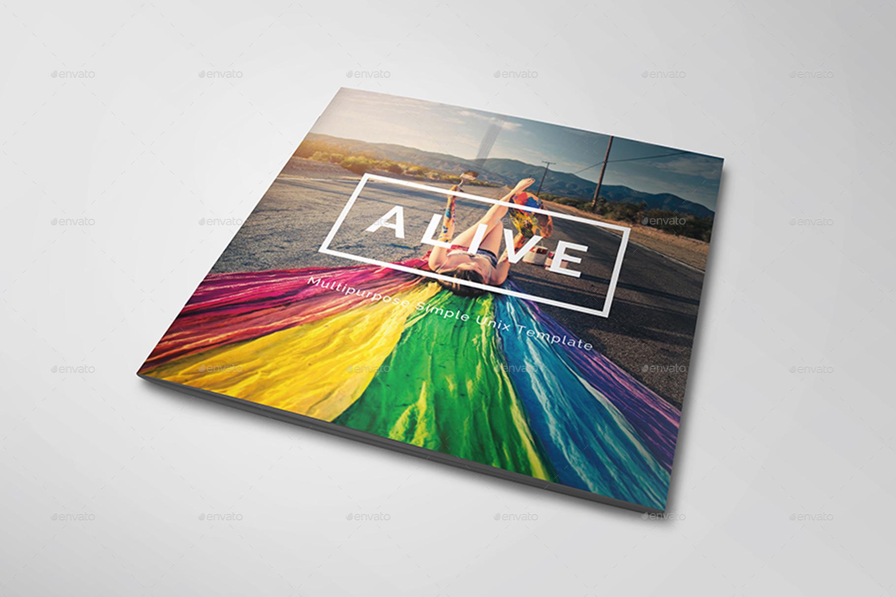 Alive - Square Magazine Template