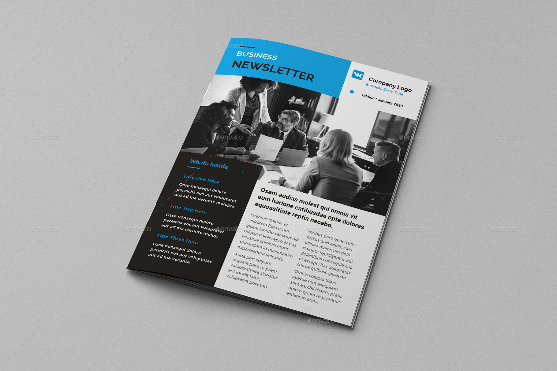 Omnipro - A4 Business Newsletter Brochure Template