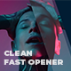 Clean Fast Opener / Intro - VideoHive Item for Sale