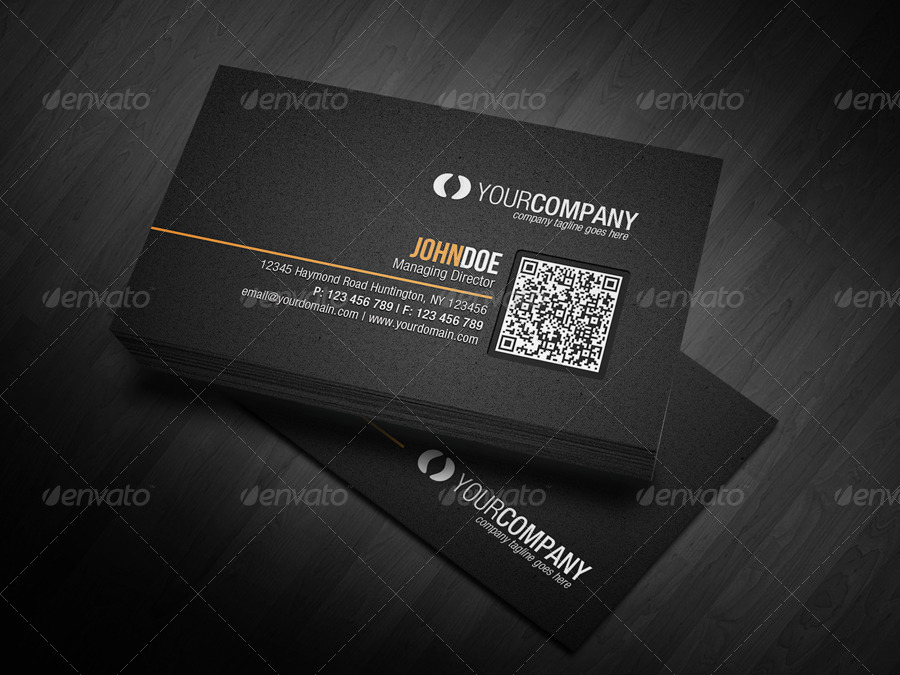 Corporate QR Code Business Card V2 by glenngoh | GraphicRiver