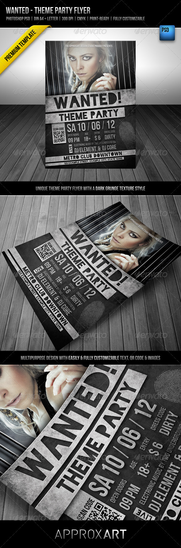 Wanted - Theme Party Flyer - Clubs & Parties Events