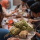 ketupat with people eating on the background - PhotoDune Item for Sale