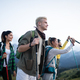 Friends hiking together outdoors exploring the wilderness - PhotoDune Item for Sale