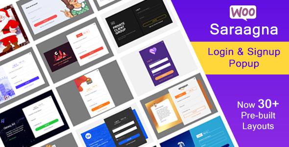 Download Saraggna   WooCommerce Login – Registration Popup Plugin Free Nulled