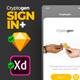 Cryptogen - Sketch UI Kit Template for iOS Login Screens