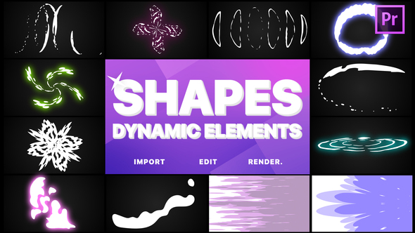 Dynamic Shapes Pack | Premiere Pro MOGRT