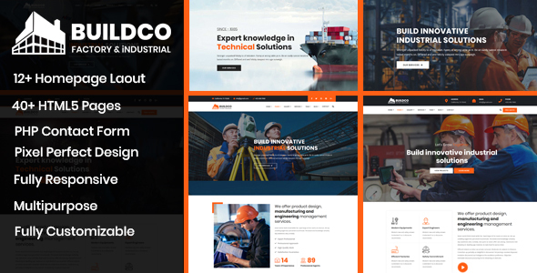 Buildco - Factory, Industrial & Construction Template