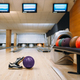 Bowling ball and house shoes on wooden floor - PhotoDune Item for Sale