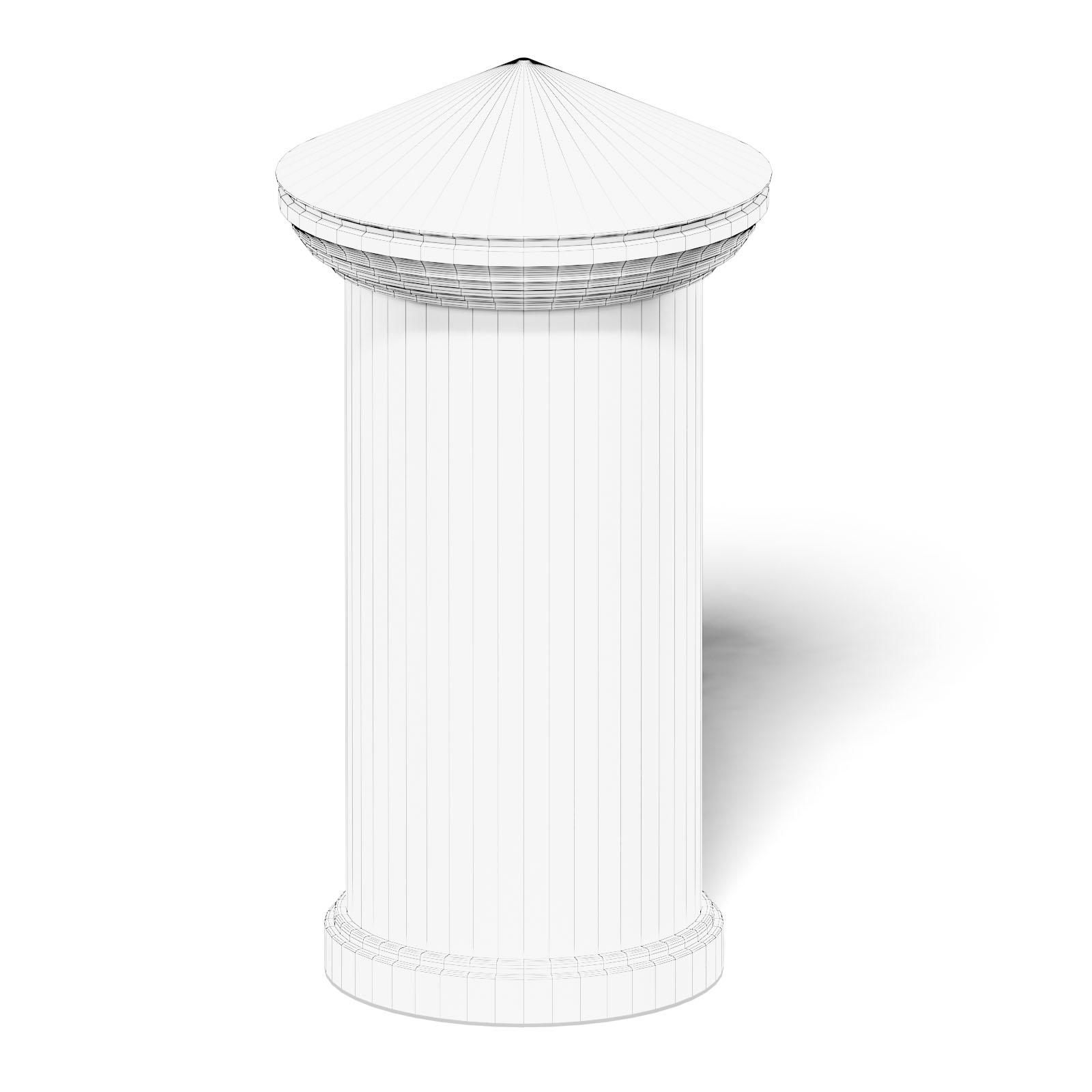 Advertising Column 3D Model